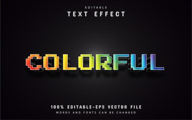 Efeitos de texto de pixel colorido