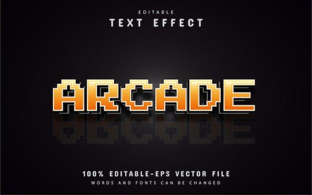 Efeitos de texto de pixel de arcade