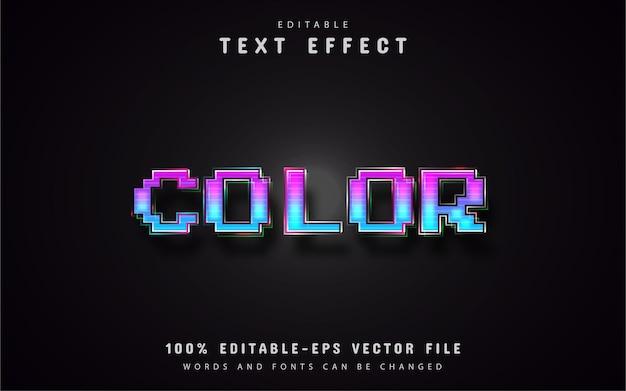 Efeitos de texto de pixel de cor