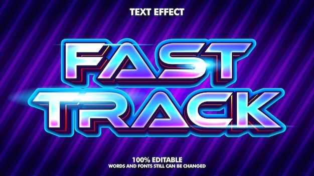 Efeitos de texto de tecnologia moderna efeito de texto editável para o conceito de design de jogo moderno