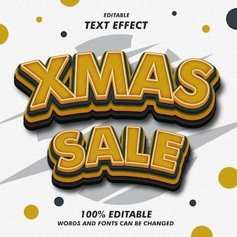 Efeitos de texto de venda de xmas