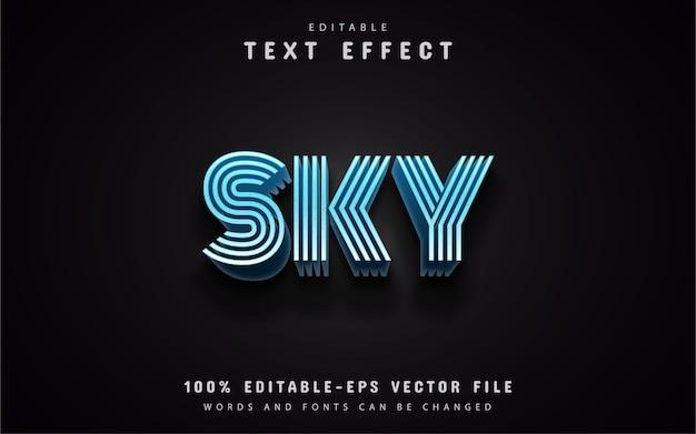 Efeitos de texto do céu