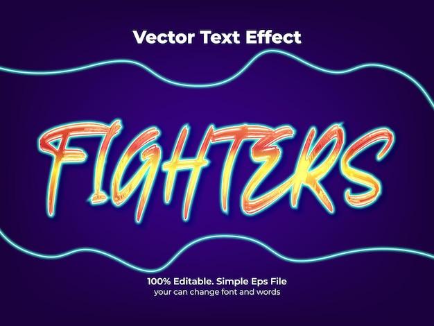 Efeitos de texto do lutador de rua