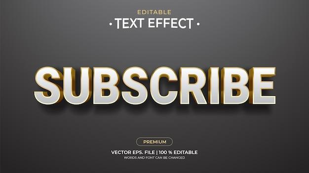 Efeitos de texto editáveis de assinatura