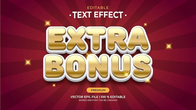 Efeitos de texto editáveis de bônus extra