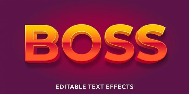 Efeitos de texto editáveis de boss