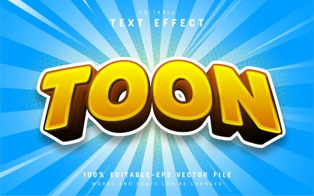 Efeitos de texto editáveis de desenho animado