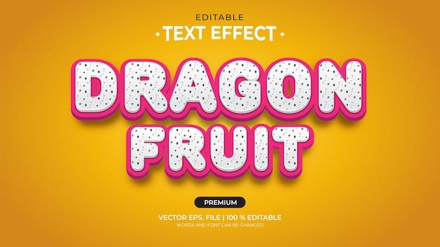 Efeitos de texto editáveis de dragon fruit