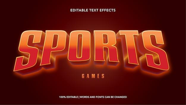 Efeitos de texto editáveis de esportes