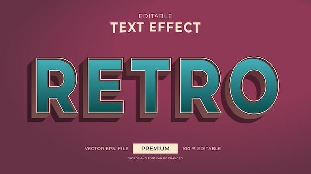 Efeitos de texto editáveis de estilo retro