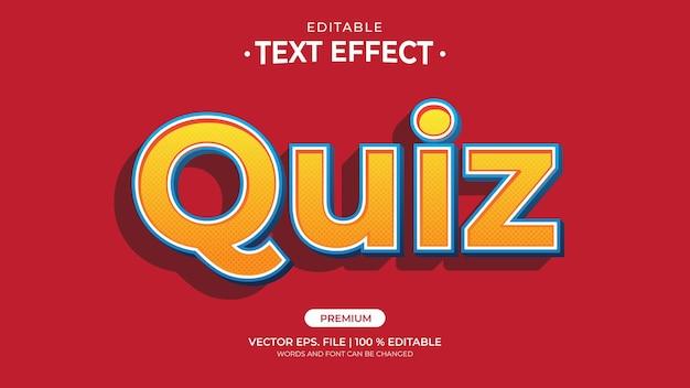 Efeitos de texto editáveis do questionário