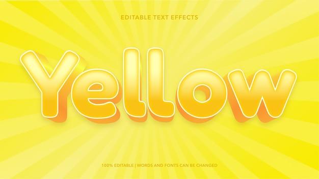 Efeitos de texto editáveis em amarelo