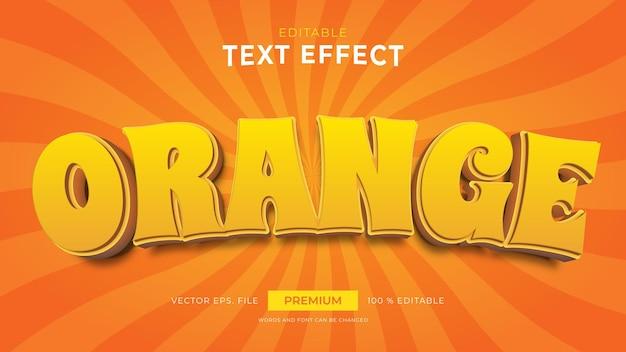 Efeitos de texto editáveis em laranja