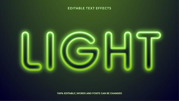 Efeitos de texto editáveis leves
