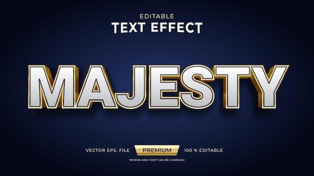 Efeitos de texto editáveis majesty