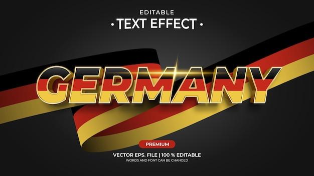 Efeitos de texto editáveis na alemanha
