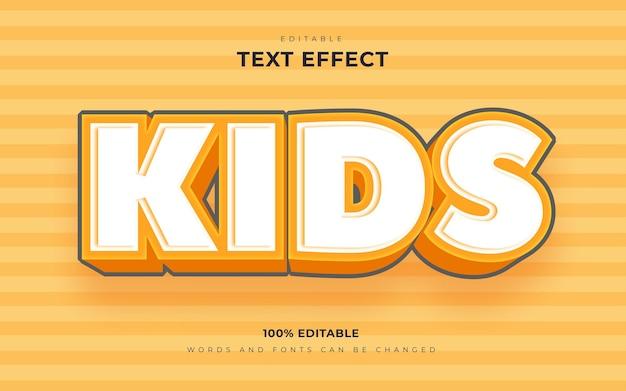 Efeitos de texto editáveis no estilo cartoon infantil