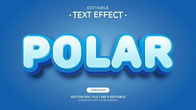 Efeitos de texto editáveis polares