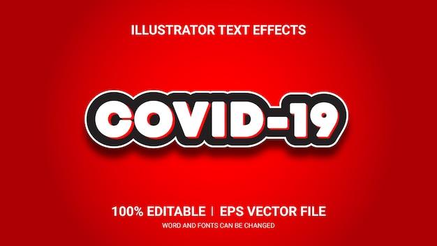 Efeitos de texto editável-covid19 efeitos de texto