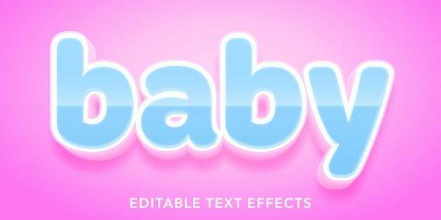 Efeitos de texto editável do bebê