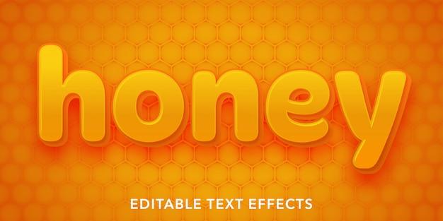 Efeitos de texto editável do mel