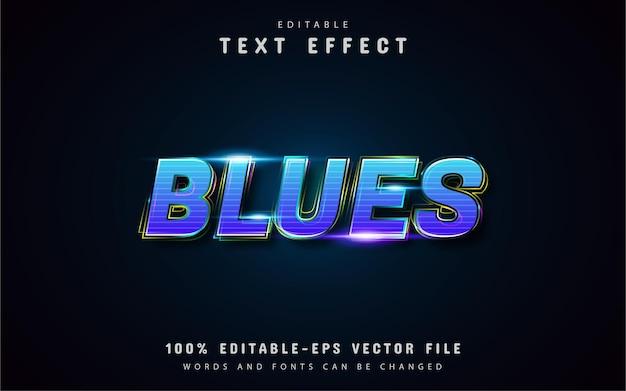 Efeitos de texto em blues