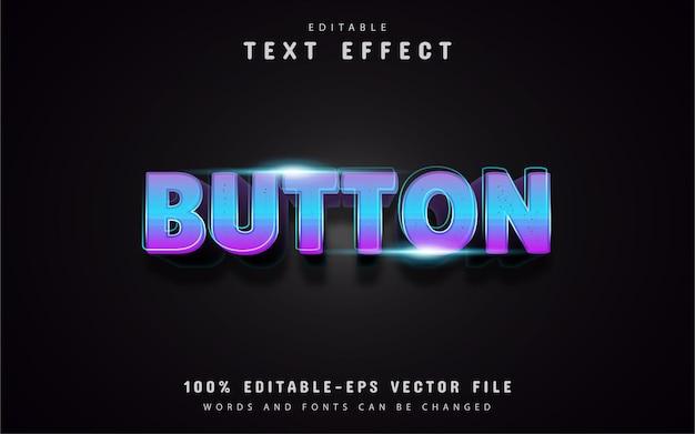 Efeitos de texto em gradiente de botão