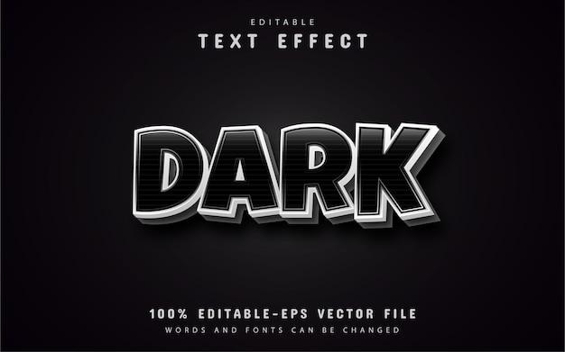 Efeitos de texto escuro