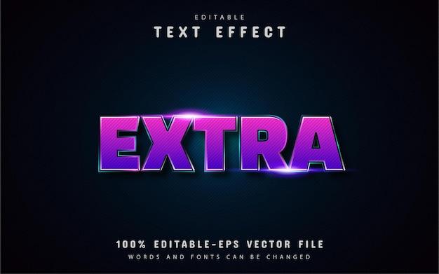 Efeitos de texto extras