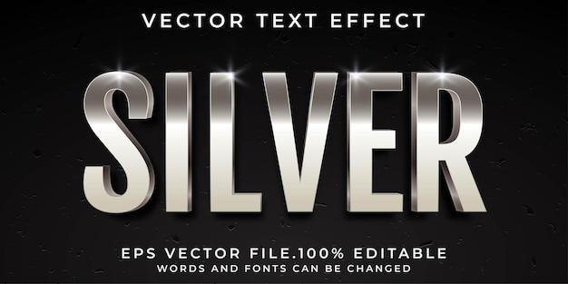 Efeitos de texto prata