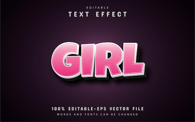 Efeitos de texto rosa