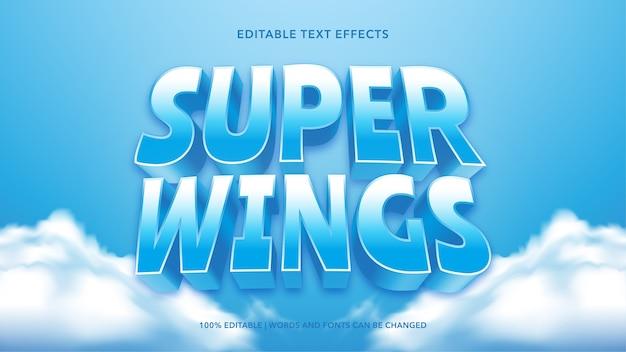 Efeitos de texto super asas