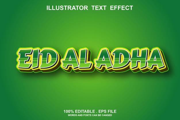 Eid al adha efeito de texto editável