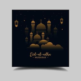 Eid al adha mídia social postar histórico do festival tradicional