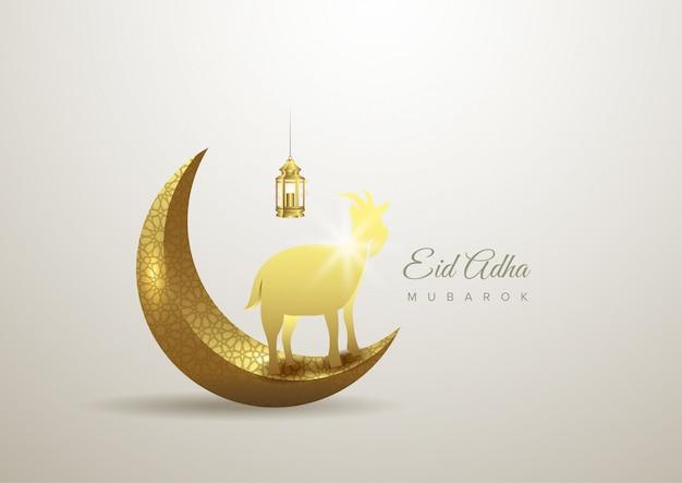 Eid al adha mubarak a celebração do fundo festival comunidade muçulmana
