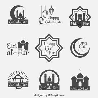 Eid al fitr badge coleção