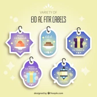 Eid al fitr rótulos