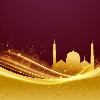 Eid e ramadan festival design com efeito de luz
