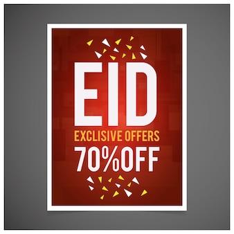 Eid exclusive offers sale flyer