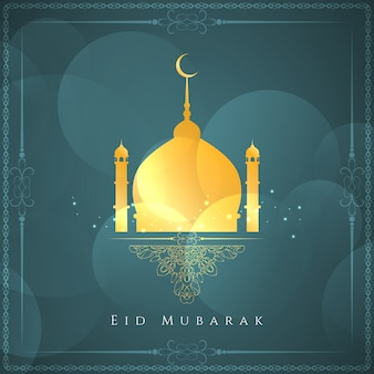 Eid mubarak background religioso