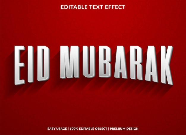 Eid mubarak com efeito de texto vintage