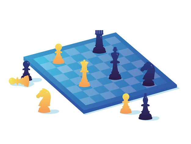 Elabore um plano estratégico para a equipe. xadrez