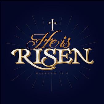 Ele ressuscitou letras com cruz