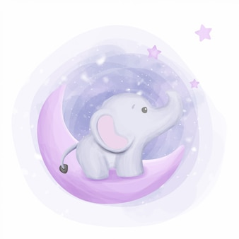 Elefante bebê alcançar as estrelas