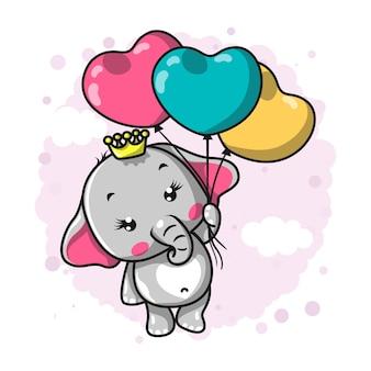 Elefante bebê fofo. ilustração de desenho de mão