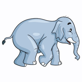 Elefante bonito dos desenhos animados