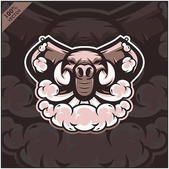 Elefante de vapor de cabeça de elefante, vape, cigarro de vaporizador, fumaça eletrônica