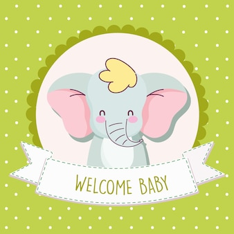 Elefante do chá de bebê