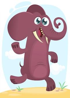 Elefante engraçado dos desenhos animados