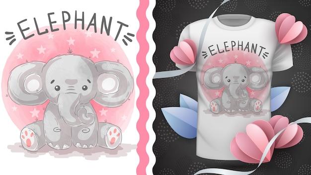 Elefante indiano - ideia para impressão t-shirt